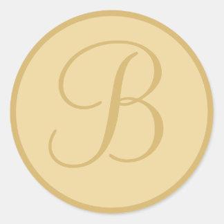 Golden Yellow Monogrammed Envelope Seals