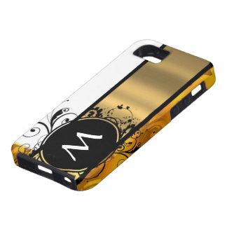 Golden yellow monogrammed iPhone SE/5/5s case