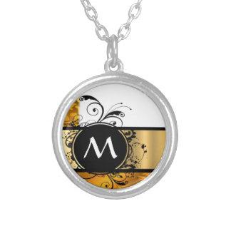 Golden yellow monogrammed jewelry