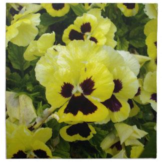 Golden_Yellow_Pansies,_ Napkin