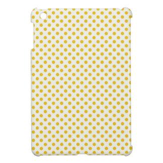 Golden Yellow Polka Dots iPad Mini Cases