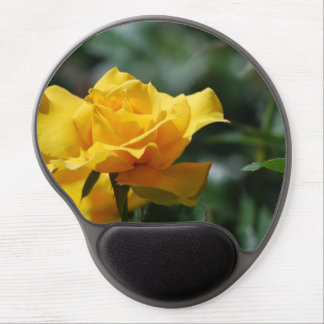 Golden Yellow Rose Bud Gel Mouse Pad