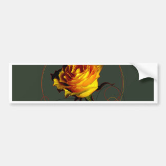 Golden Yellow Rose Gifts by Sharles Bumper Sticker