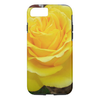 Golden Yellow Rose with Garden Background iPhone 7 Case
