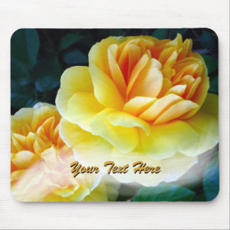 Golden Yellow Roses Custom Mouse Pad