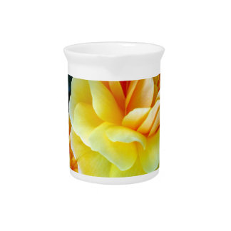 Golden Yellow Roses Drink Pitchers