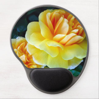 Golden Yellow Roses Gel Mouse Pad