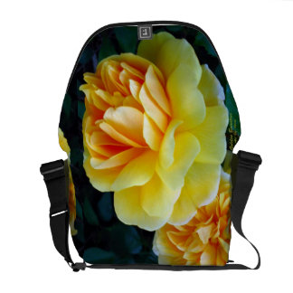Golden Yellow Roses Courier Bags