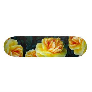 Golden Yellow Roses Skate Board Decks