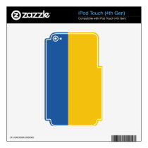 Golden Yellow & Royal Blue iPod Touch 4G Skin
