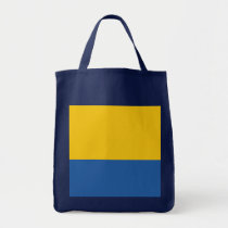 Golden Yellow & Royal Blue Tote Bag