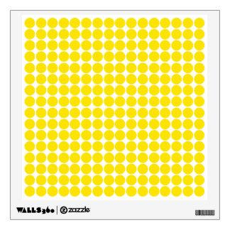 Golden Yellow Safari Dot Wall Stickers