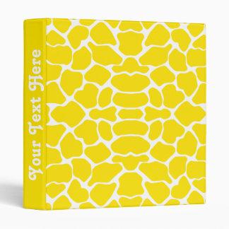 Golden Yellow Safari Giraffe with text Binder