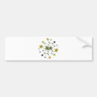 Golden Yellow Sage Spring Flower Garden Bumper Sticker