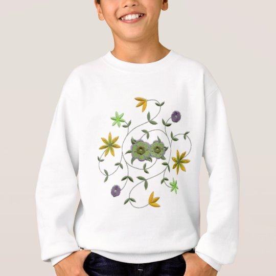Golden Yellow Sage Spring Flower Garden Sweatshirt