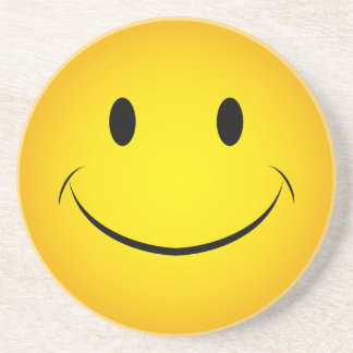 Golden Yellow Smiley Face Coaster