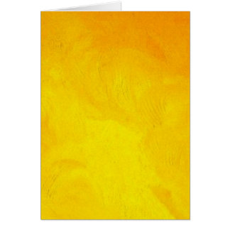 Golden Yellow - The World With Minimal Design Card