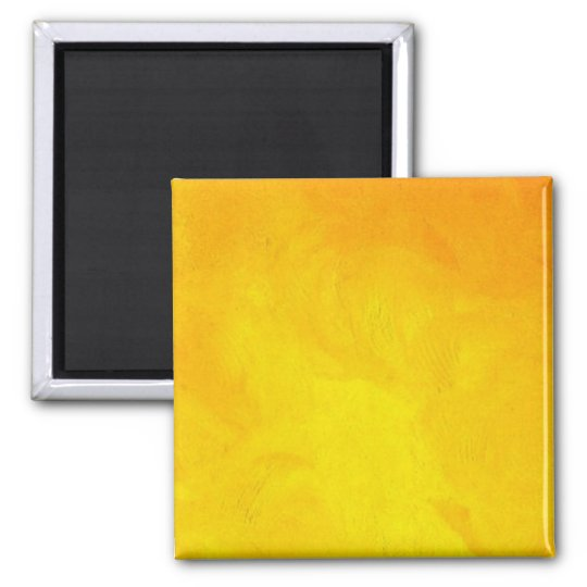 Golden Yellow - The World With Minimal Design Magnet