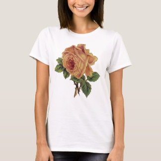 Golden Yellow Vintage Rose T-Shirt