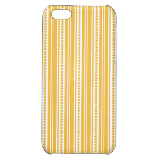 Golden Yellow Vintage Stripes Case For iPhone 5C