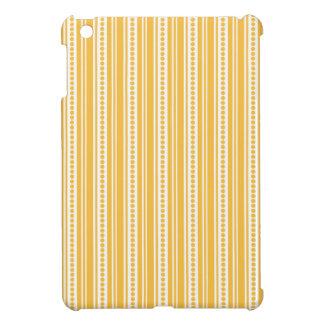 Golden Yellow Vintage Stripes Case For The iPad Mini