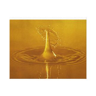 Golden Yellow Waterdrop Canvas Print