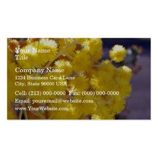 Golden Yellow wattle up close Double-Sided Standard Business Cards (Pack Of 100)