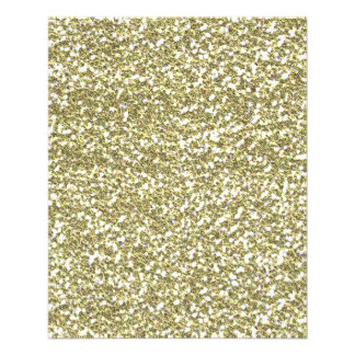 GOLDEN YELLOW WHITE SEQUINS GLITTER TEXTURE TEMPLA PERSONALIZED FLYER