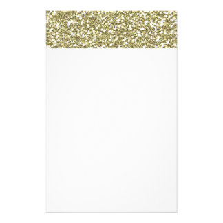 GOLDEN YELLOW WHITE SEQUINS GLITTER TEXTURE TEMPLA STATIONERY