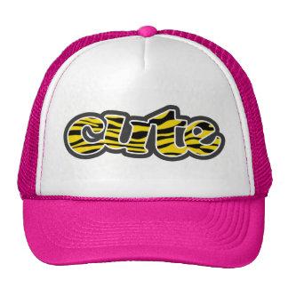 Golden Yellow Zebra Stripes Animal Print Hats