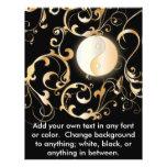 Golden Yin & Yang Floral Design Custom Flyer