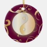 Golden Yin & Yang Ornament