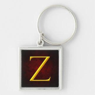 Golden Z Monogram Key Chain