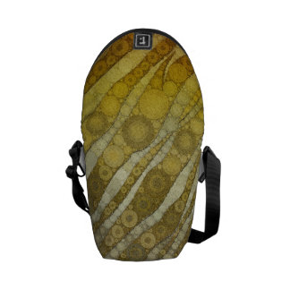 Golden Zebra Abstract Courier Bag