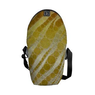 Golden Zebra Abstract Courier Bags