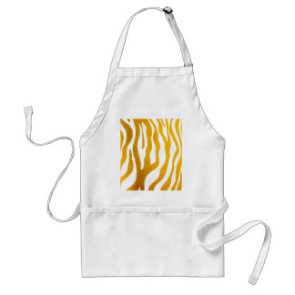Golden Zebra Prints Adult Apron