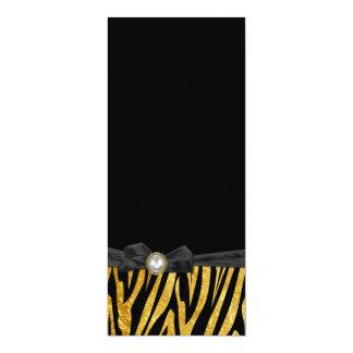 Golden Zebra Wedding Menu Card