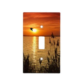 Golden Zen Sunset Light Switch Cover