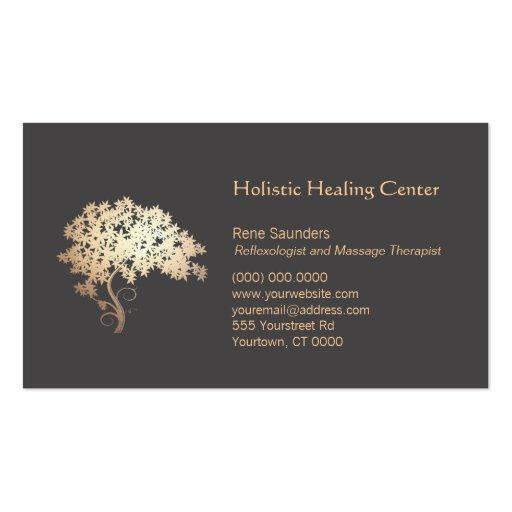 Golden Zen Tree Holistic and Natural Healing Business Card