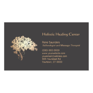 Golden Zen Tree Holistic and Natural Healing Double-Sided Standard Business Cards (Pack Of 100)