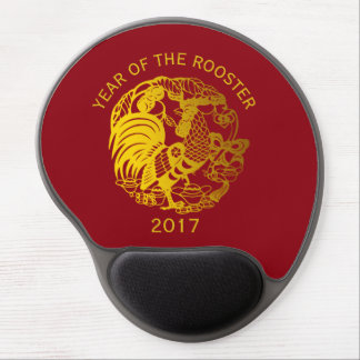 Golden Zodiac 2017 Rooster Year gel mousepad