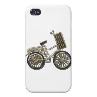 GoldenBicycleBasket081311 iPhone 4 Cases