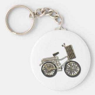 GoldenBicycleBasket081311 Keychain