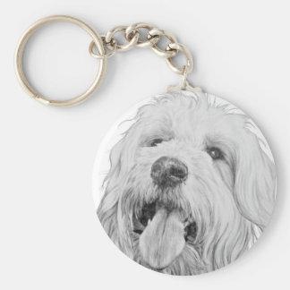 Goldendoodle Basic Round Button Keychain