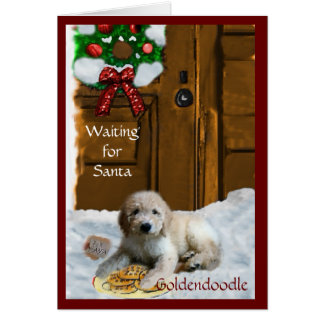 Goldendoodle Christmas Gifts Card