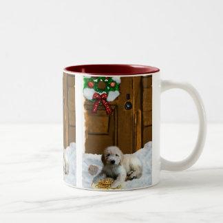 Goldendoodle Christmas Gifts Two-Tone Coffee Mug
