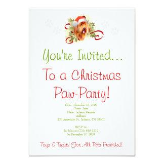 Goldendoodle Christmas Invitation