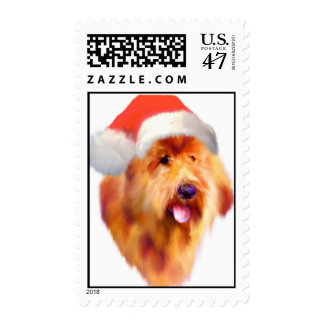 Goldendoodle Christmas Stamps