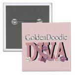 GoldenDoodle DIVA Pinback Button