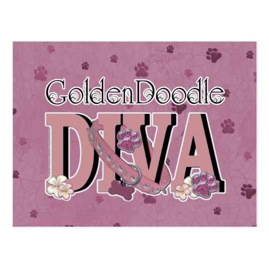 GoldenDoodle DIVA Postcard